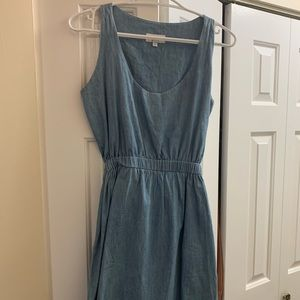 Denim open back summer dress!